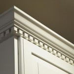 Solid Wood Kitchen Cabinet Crown Moulding Dentil Detail